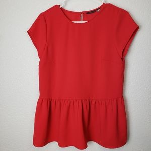 Halogen Red Short sleeve Blouse